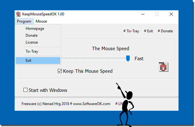 Use Keep-Mouse-Speed-OK for Windows!
