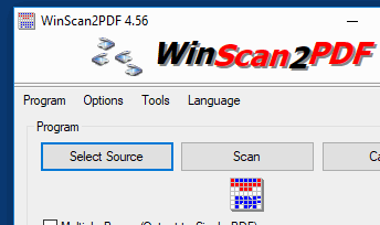 Simply save the scanned documents into PDF and save them to a file on your PC!