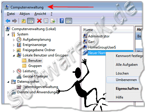 Die Computerverwaltung in Windows-7 �ffnen, bzw starten