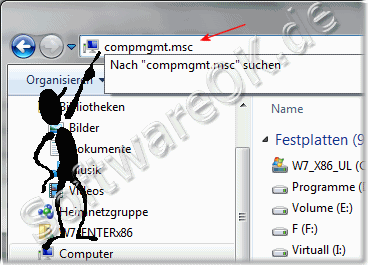 Windows Sieben compmgmt.msc
