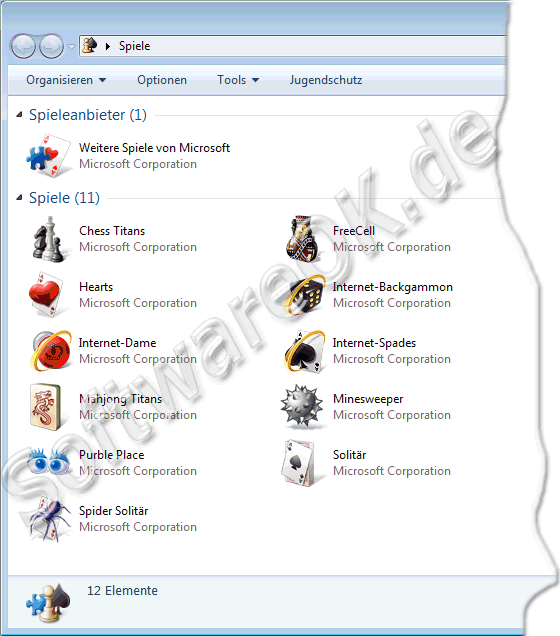 Windows 7 Spiele