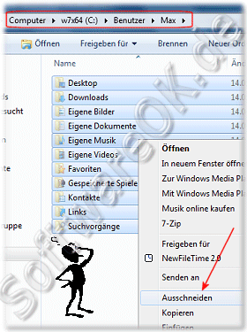 Eigene Dateien den Pfad �ndern in Windows-7