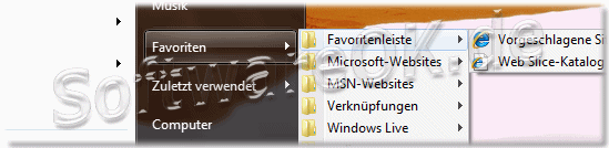 Favoriten im Windows 7 Startmen�