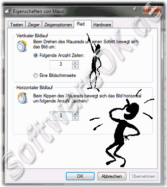 Die Mausrad-Einstellungen in Windows-7