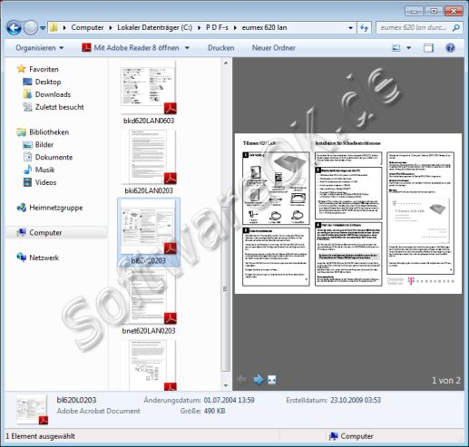 PDF Vorschau in Windows 7