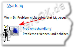 Wartung und Problembehandlung in Windows-7
