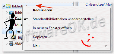Windows-7 Standardbibliotheken wiederherstellen