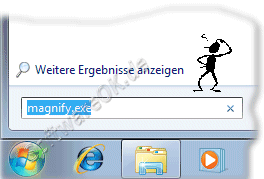 Windows-7 Bildschirmlupe