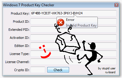 Windows 7 Product Key �berpr�fen