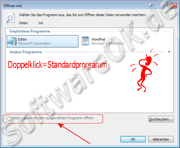 Windows 7 Standardprogramm f�r Dateitypen und Dateiendungen festlegen, definieren, ausw�hlen