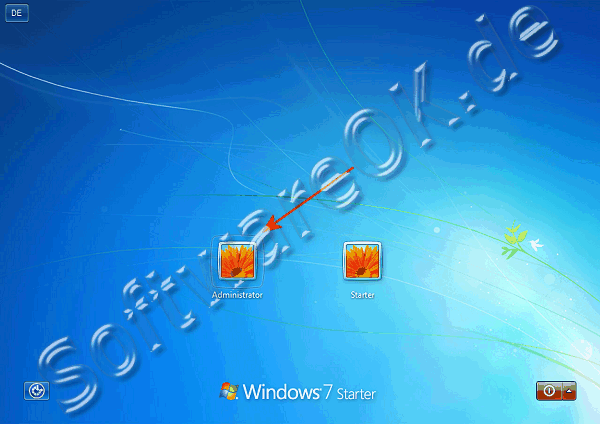 In Windows-7 Starter Administrator Login!