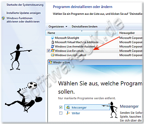 Windows Messenger deinstallieren
