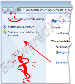 Startdiskete bzw Systemreparaturdatentraeger in Windowes-7 erstellen